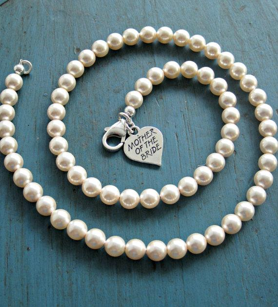 Pearl Necklace Mother Of The Bride Gift Bridesmaid Jewelry .
