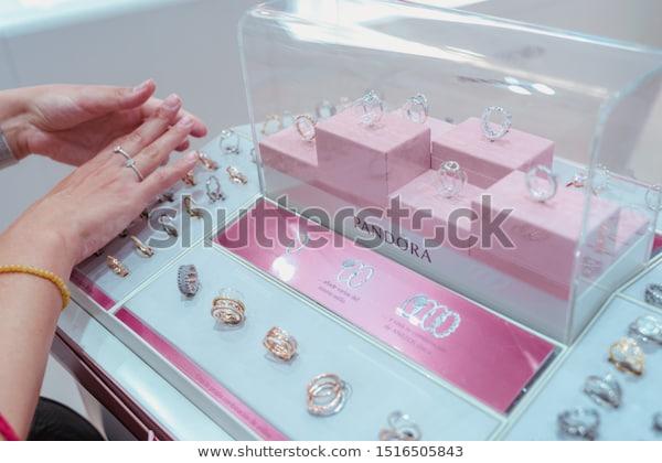 Valencia July 21 2019 Pandora Jewellery Stock Photo (Edit Now .