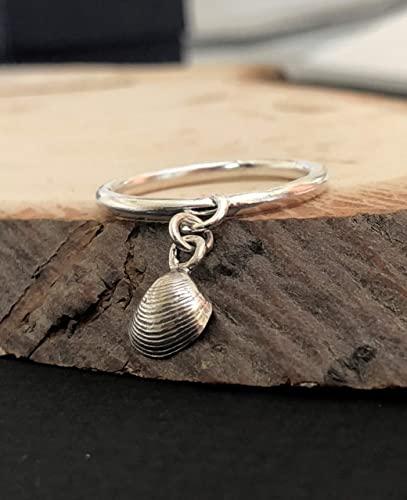 Amazon.com: Silver Charm Ring, Dangle Cute Unique Boho Chic .