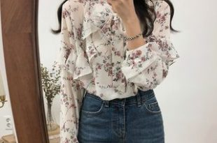 Leoom Floral Ruffle Chiffon Blouse | YesSty