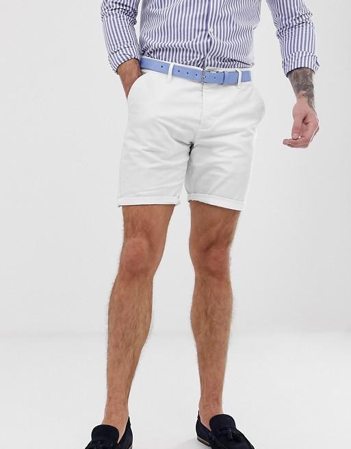 ASOS DESIGN slim chino shorts in white | AS