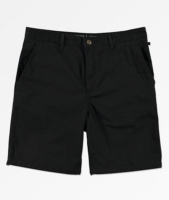 Freeworld Walker All Black Chino Shorts | Zumi