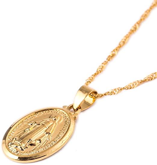 Amazon.com: 24K Gold Plated Catholic Christian Jewelry Mother .