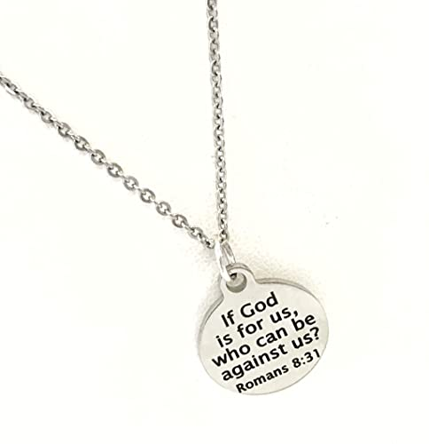 Amazon.com: Christian Necklace, Christian Jewelry, If God Is For .