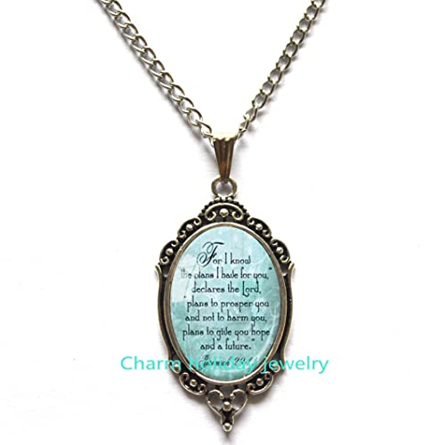Amazon.com: For I Know The Plans I Have For You Necklace .
