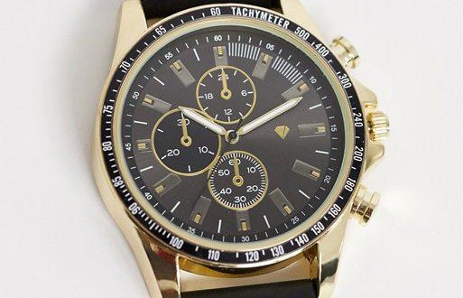 Spirit design mens chronograph watch with black strap | AS