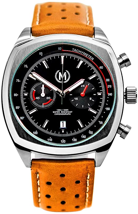Amazon.com: Marchand Classic Driver Chronograph Watch   Racing .