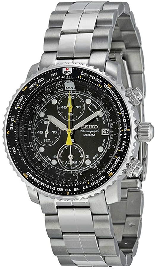 Amazon.com: Seiko Men's SNA411 Flight Alarm Chronograph Watch .