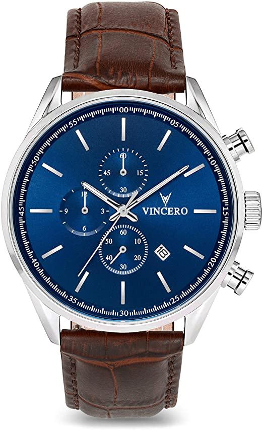 Amazon.com: Vincero Luxury Men's Chrono S Wrist Watch - Top Grain .
