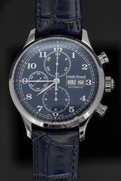 Louis Erard - Automatic Chronograph Watch 1931 Blue - 78225AA25 .