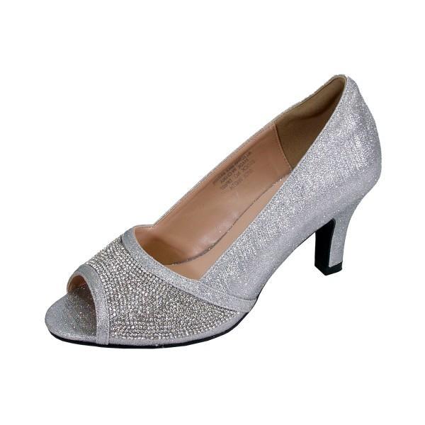 Women Church Shoes DP897-Silver | Church Suits For Le
