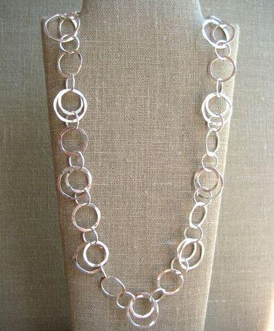 Classic Circle Necklace - Wisteria Jewelry | Silver jewelry .
