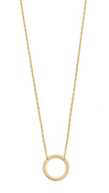 Jennifer Zeuner Jewelry Small Open Circle Necklace | SHOPB