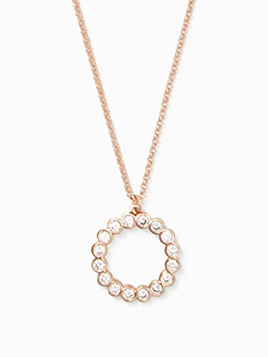 Amazon.com: Kate Spade Full Circle Mini Pendant Necklace in Clear .