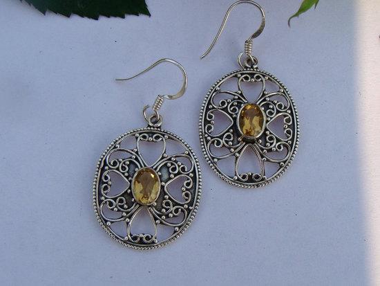 Citrine Earrings, November Birthstone Jewelry - Eerra.c