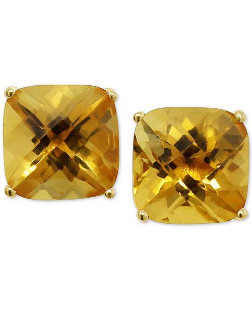 Macy's Citrine Stud Earrings (5 ct. t.w.) in 14k Gold & Reviews .