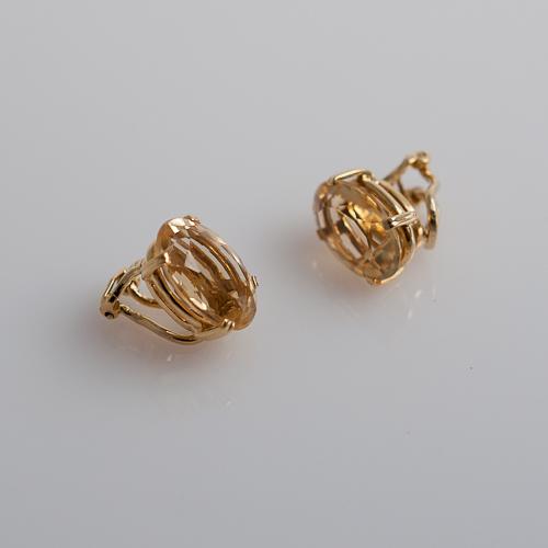 H. Stern Oval Citrine Earrings — Gladstone Jewel