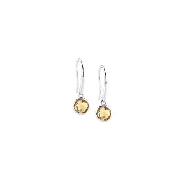 Sterling Silver Citrine Bezel Set Earrings | Parris Jewelers .