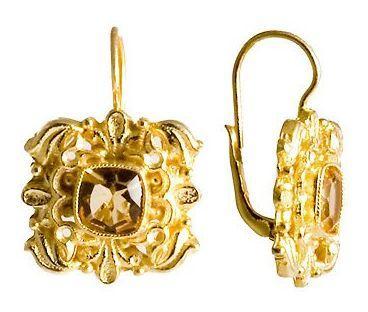 Catherine Of Aragon Citrine Earrings – Museum of Jewel