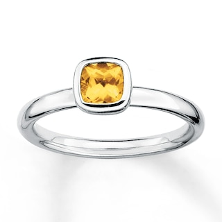 Stackable Citrine Ring Sterling Silver | Womens Rings | Rings | K