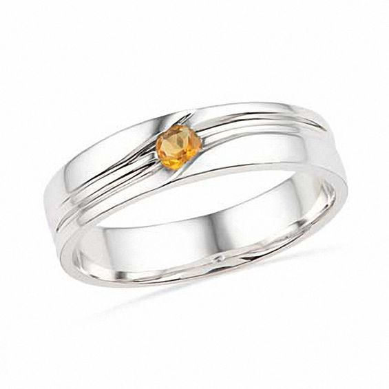 Men's Citrine Ring in Sterling Silver | Clearance Rings .