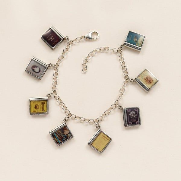 Shop Floriana Women's Classic Literature Charm Bracelet with 8 .
