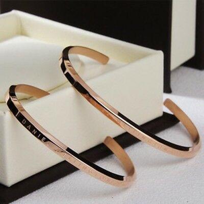 Daniel Wellington Bangle Classic Cuff Bracelet Rose Gold / Silver .