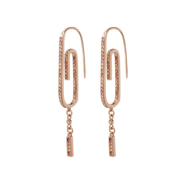Ombre Paper Clip Earrings- Rose Gold   Luv