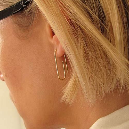 Amazon.com: Gold Paper Clip Earrings, Small Clip Earrings .