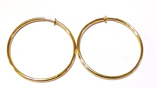 Amazon.com: Clip-on Earrings Clip Hoop Earrings Gold or Silver .