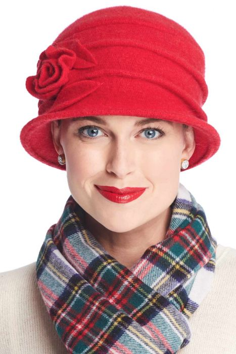 Wool Whitney Rose Cloche Hat | Winter Wool Hats for Wom