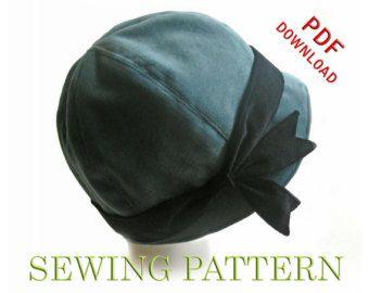 fabric cloche hat pattern free - Cerca con Google | Hat patterns .