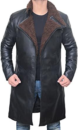 Blingsoul Leather Coats for Men - Swedish Bomber Shearling PU .