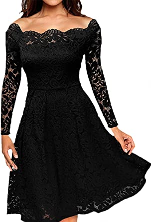 Amazon.com: Women's Vintage Floral Lace Formal Dresses for Any .