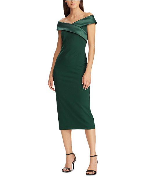 Lauren Ralph Lauren Satin-Collar Cocktail Dress, Created for .