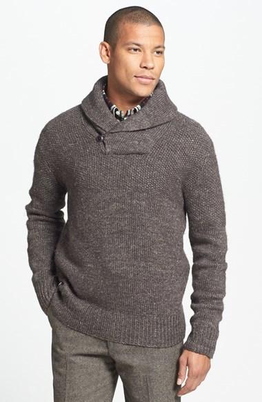 Grayers Duncan Wool Linen Shawl Collar Sweater, $225 | Nordstrom .