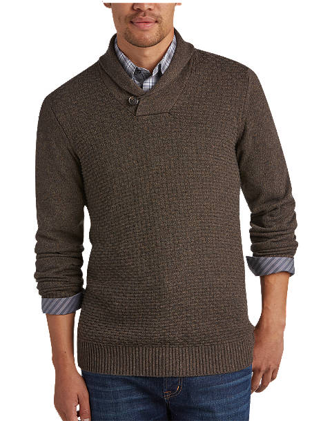 Joseph Abboud Bark Shawl-Collar Sweater - Men's Sweaters | Men's .