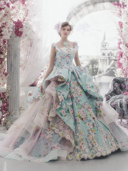 32 Colorful Wedding Dresses by Stella De Libero | Ball gowns .