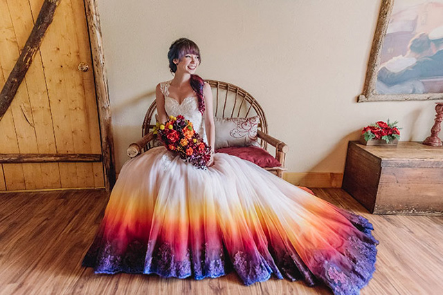 Dyed Wedding Dresses Bring Color To That Special Day | DeMilk