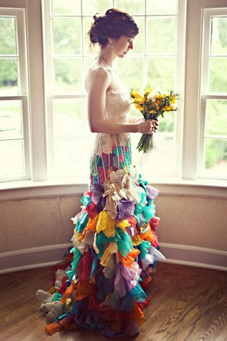 colorful wedding dress | Unusual wedding dresses, Colored wedding .