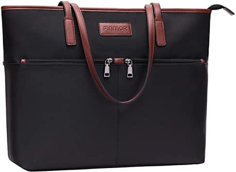 Amazon.com: FINMOR Laptop-Bag-for-Women-15.6 Inch Multi Pockets .