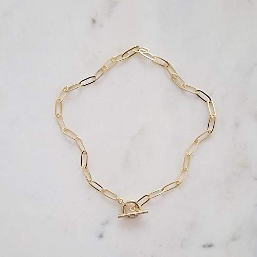 Amazon.com: Gold Chain Necklace, Chain Choker, Toggle Necklace .