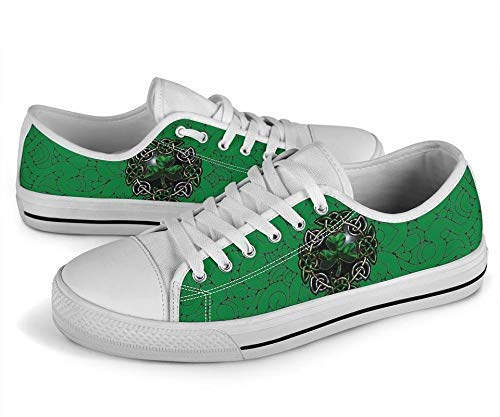 Amazon.com: Irish Happy St.Patrick Day Low-top Shamrock Canvas .