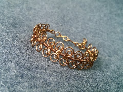 How to make twisted round bracelet - handmade copper jewelry 252 .