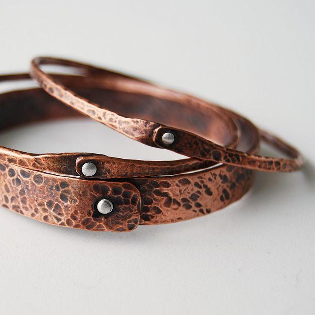 copper bangles | Metal jewelry, Jewelry, Artisan jewel