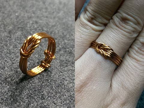 copper wire knot ring - handcrafted copper jewelry 147 - YouTu