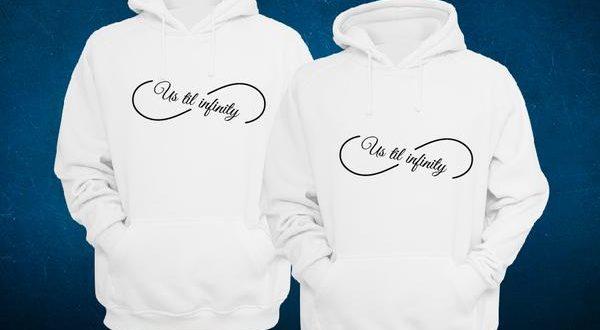 Us Until Infinity Matching Couple Hoodies, Couples Hoodies / 4 .
