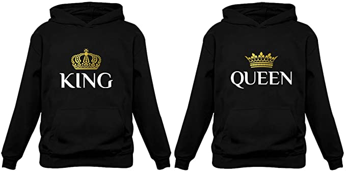 Amazon.com: King & Queen Matching Couple Hoodie Set His & Hers .
