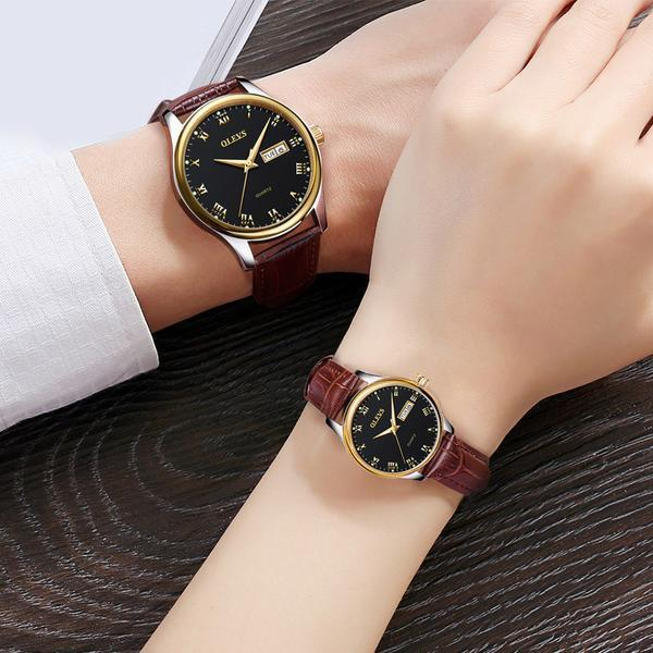The Lovers™ Couple Pair Luxury Top Brand Quartz Luminous Watch .