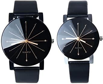 Amazon.com: Men and Women Watch, FTXJ Luxury Quartz PU Leather .